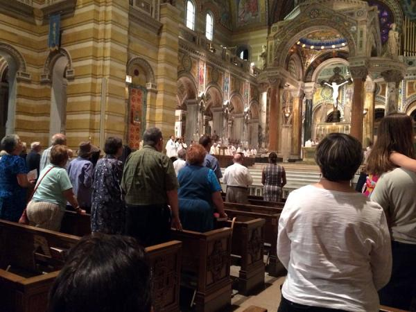 The Archdiocese of St. Louis held a Mass for Peace and Justice at the Cathedral Basilica on Wednesday, August 20, 2014.