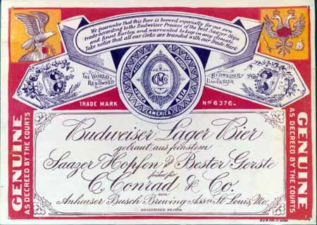 Anheuser Busch changed the design of its beer label during WWI.