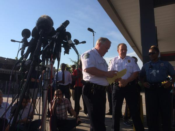 Ferguson Police Chief Tom Jackson prepares to release the name of the officer who shot and killed Michael Brown. Jackson revealed that Darren Wilson killed the 18-year-old last Saturday.