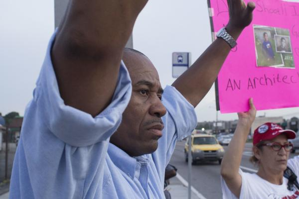 Marshall Peeples joined the measured protests that went on Friday night.