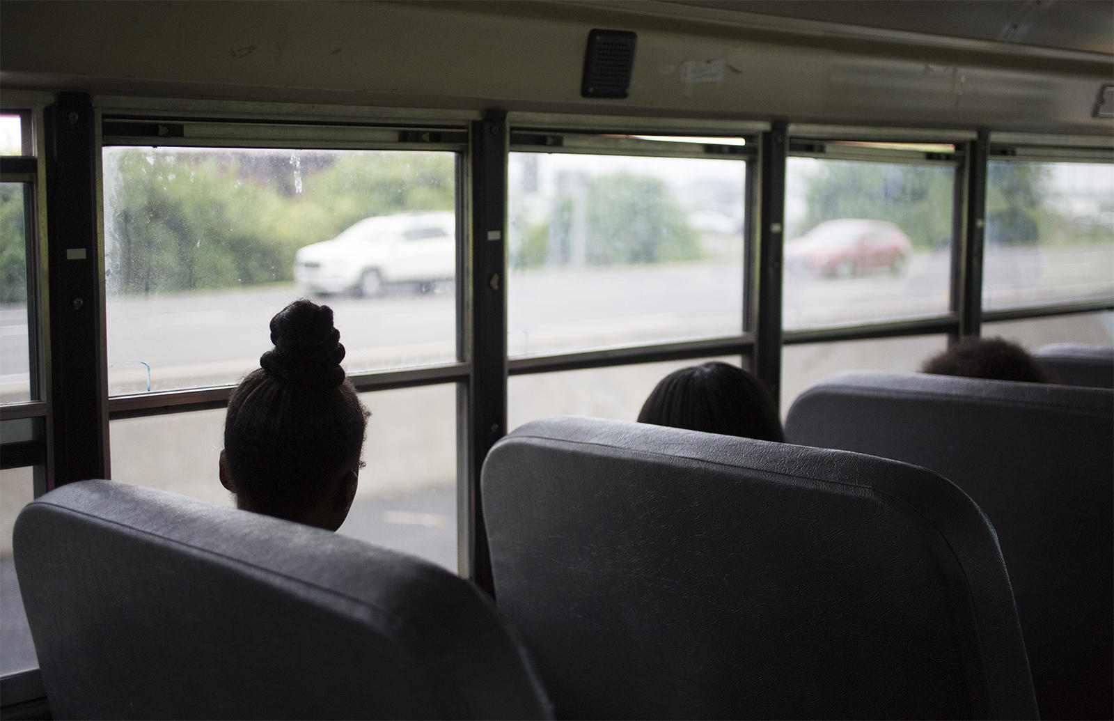 St Louis City Students Ride A Voluntary Interdistrict Choice Corporation School Bus In May