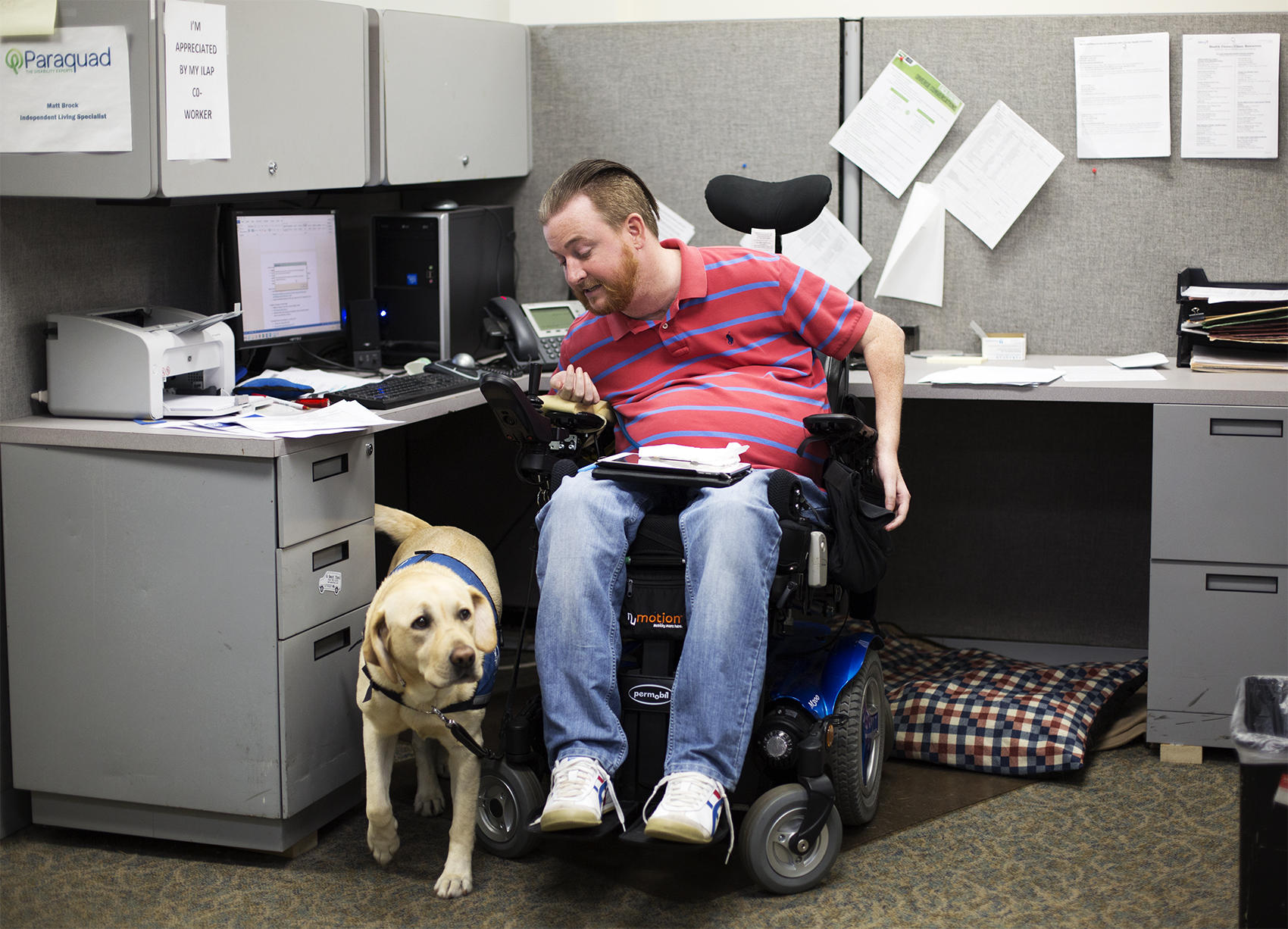 On Disability With Service Dog Homeless
