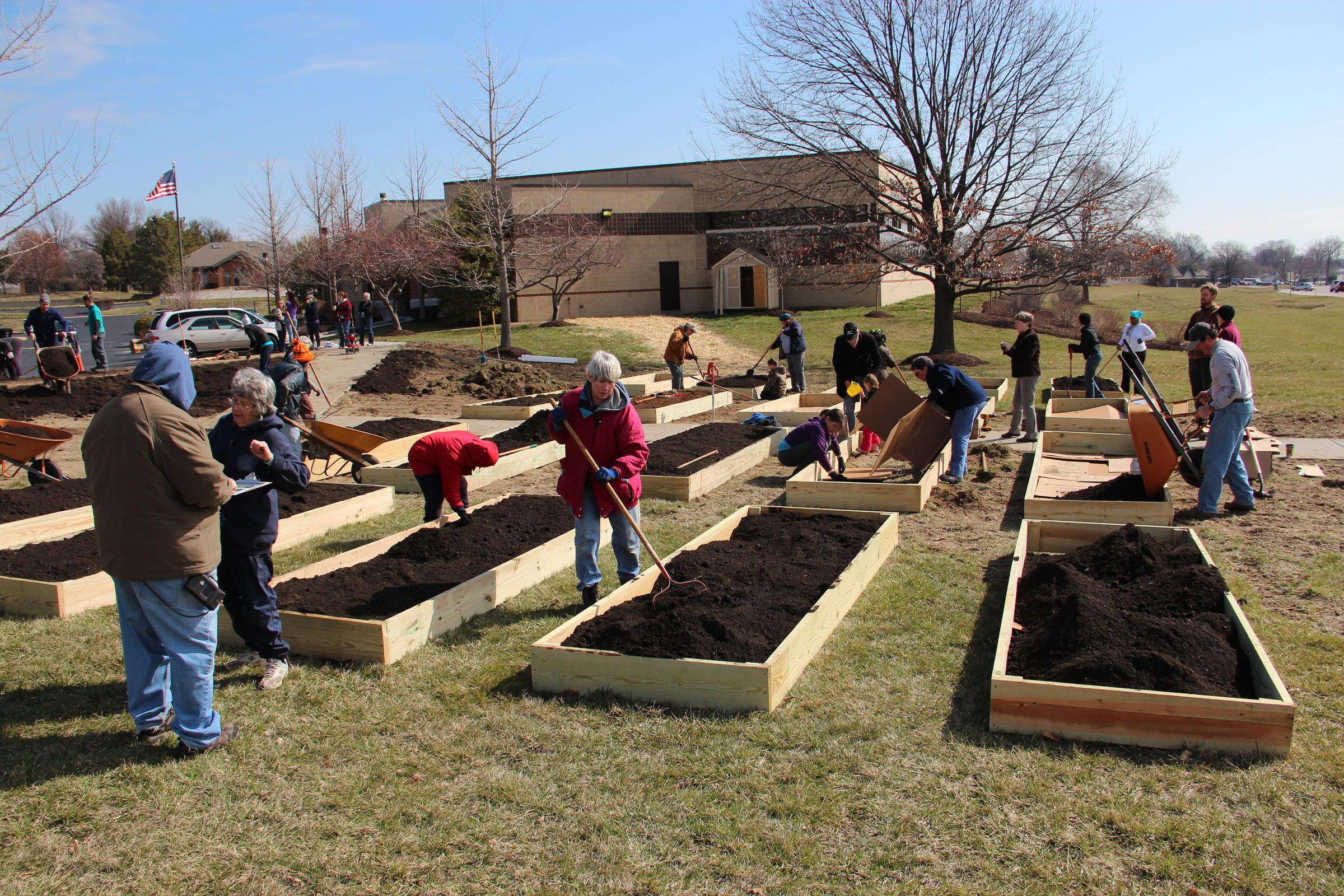 community gardening. st. louis county library district seeds community gardening effort v