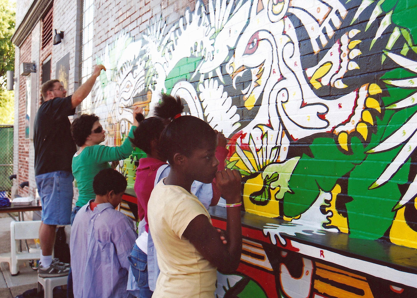 How murals help define strengthen st louis and the for Examples of mural painting