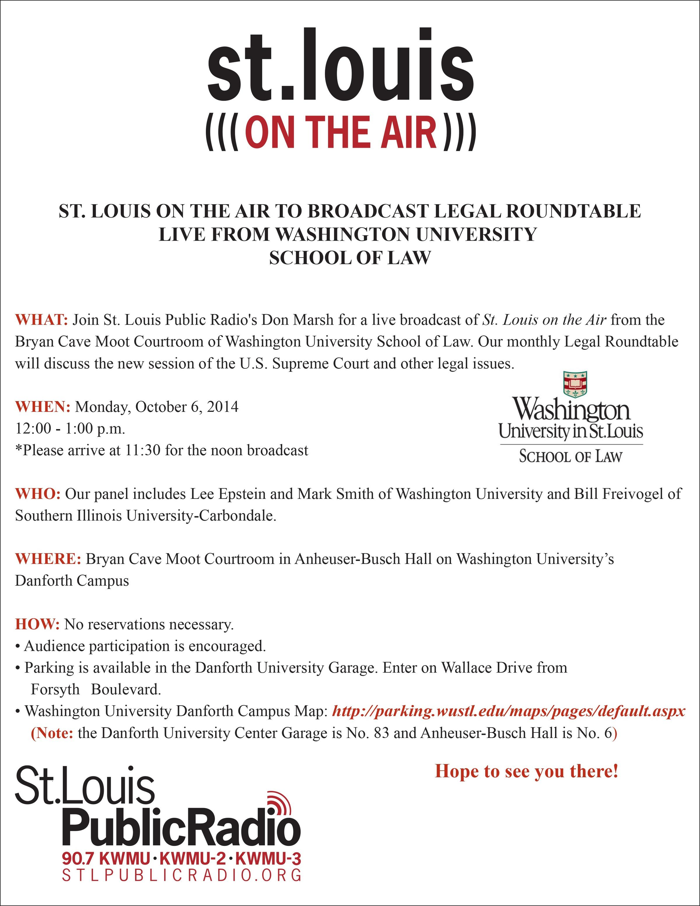 Join The Legal Roundtable Audience On Monday St Louis Public Radio