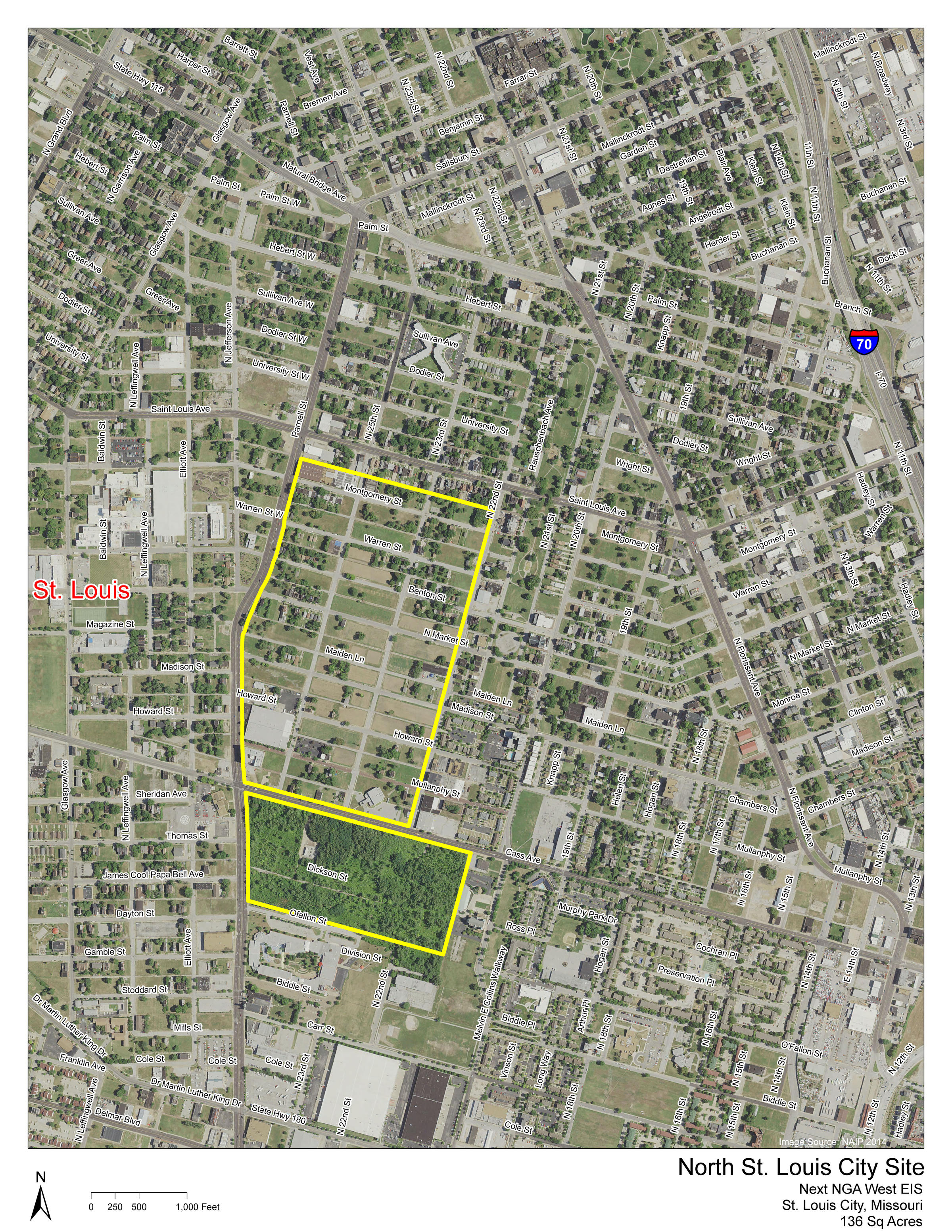 Pruitt Campus Map.St Louis Works To Keep Nga Not All Residents Approve St Louis