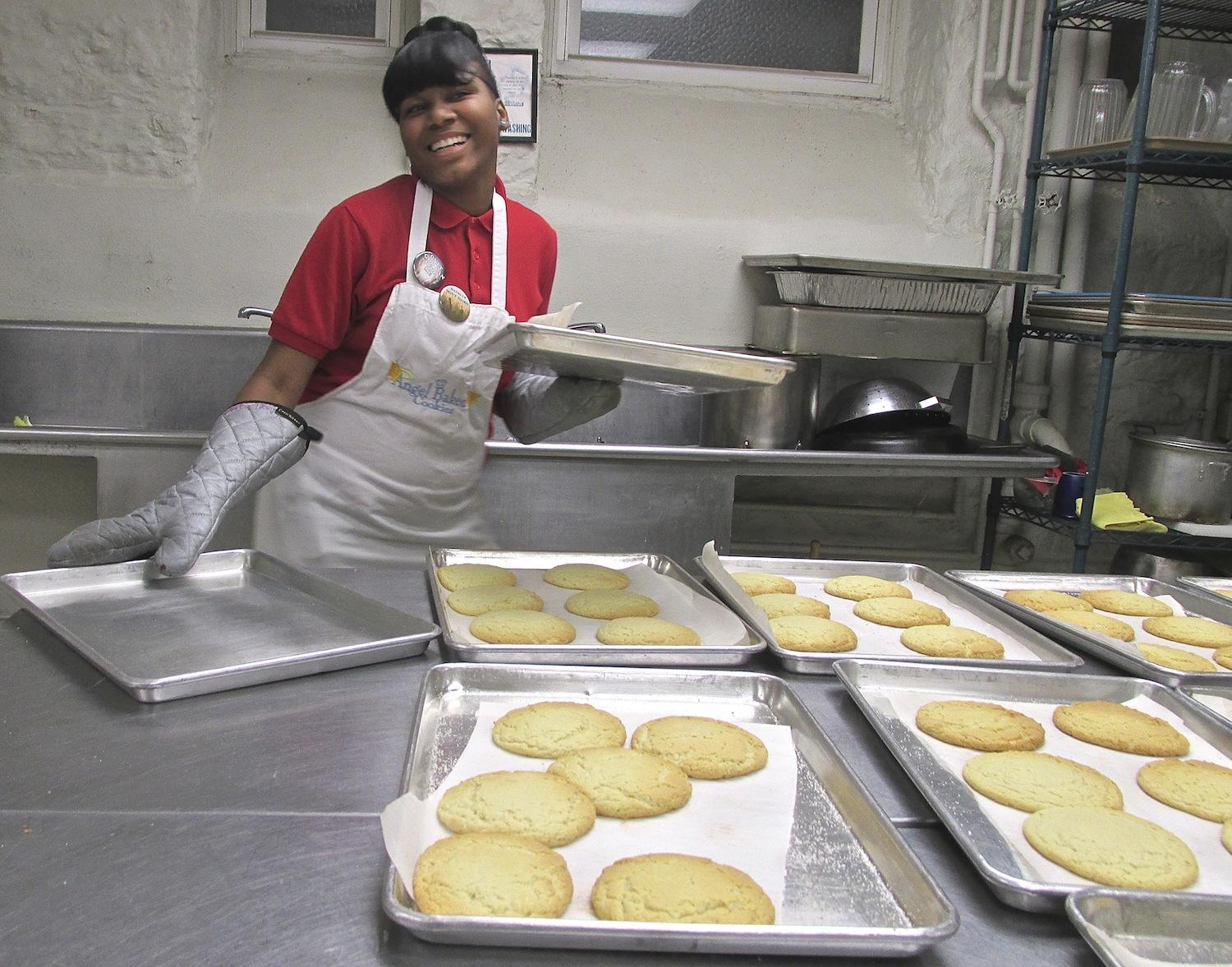 Annitta Frost, 17, Says She Loves Her Job. The Cookies Are Baked In  Convection Ovens In The Kitchen Of Saint Teresa And Bridget Catholic Church.