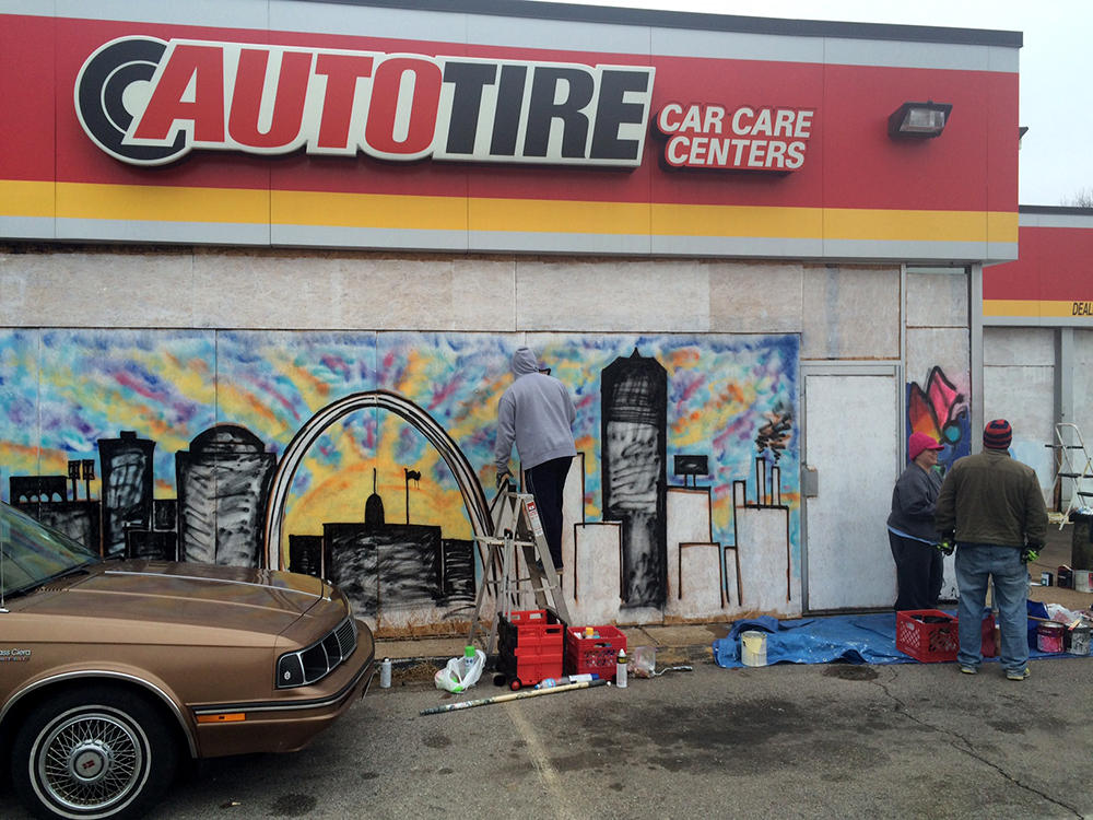 Plywood-Covered Businesses In Ferguson, Dellwood Become Colorful ...