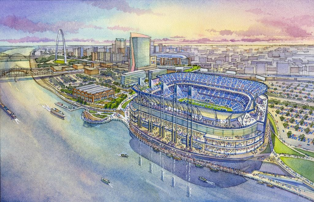 Plans Unveiled For New Riverfront Nfl Stadium St Louis