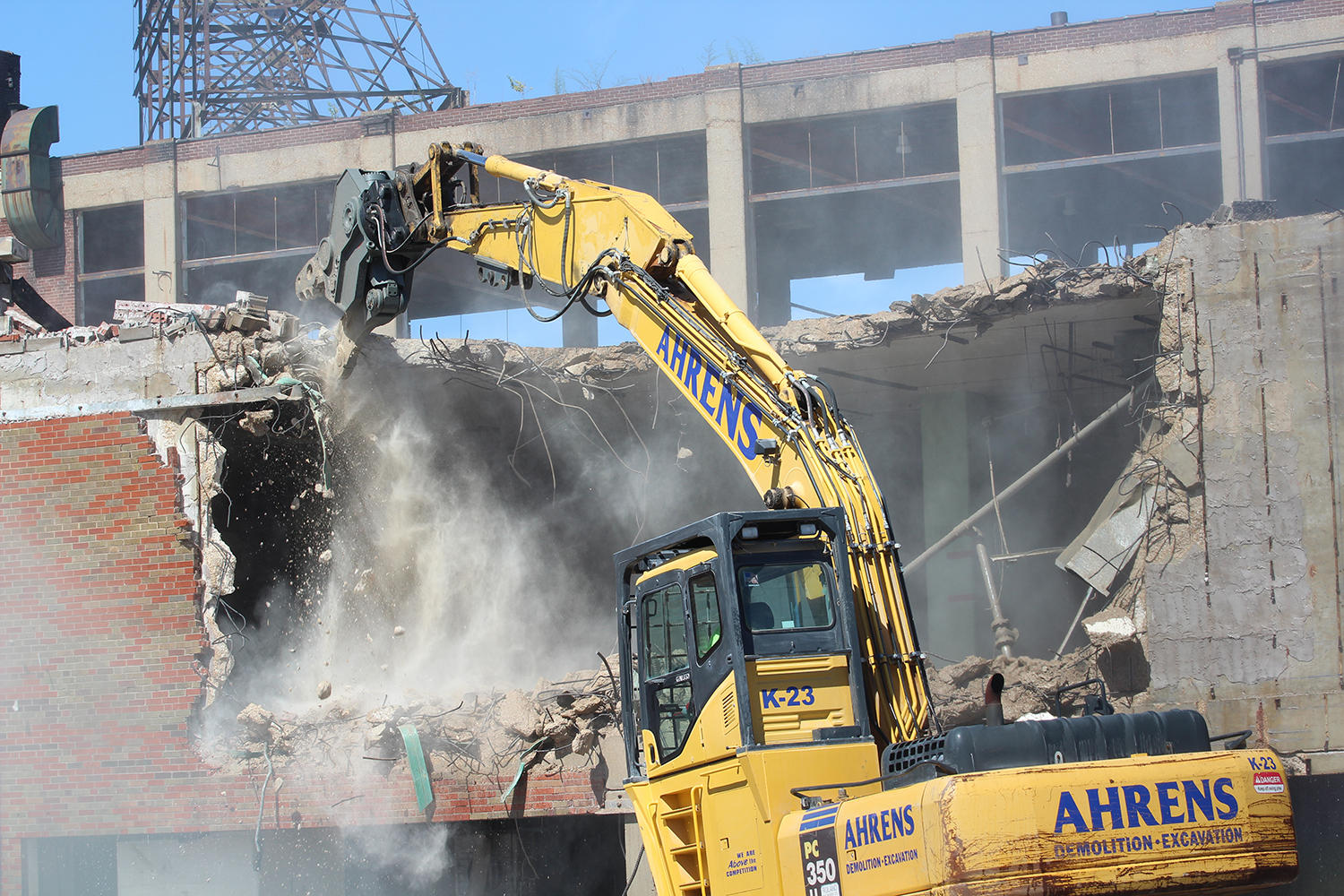 Crash Demolition Begins At Carter Carburetor Plant In North St