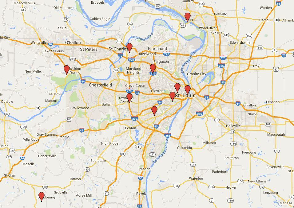 St Louis Oddities And Their Backstories From The Dove Mall - Us map st louis mo