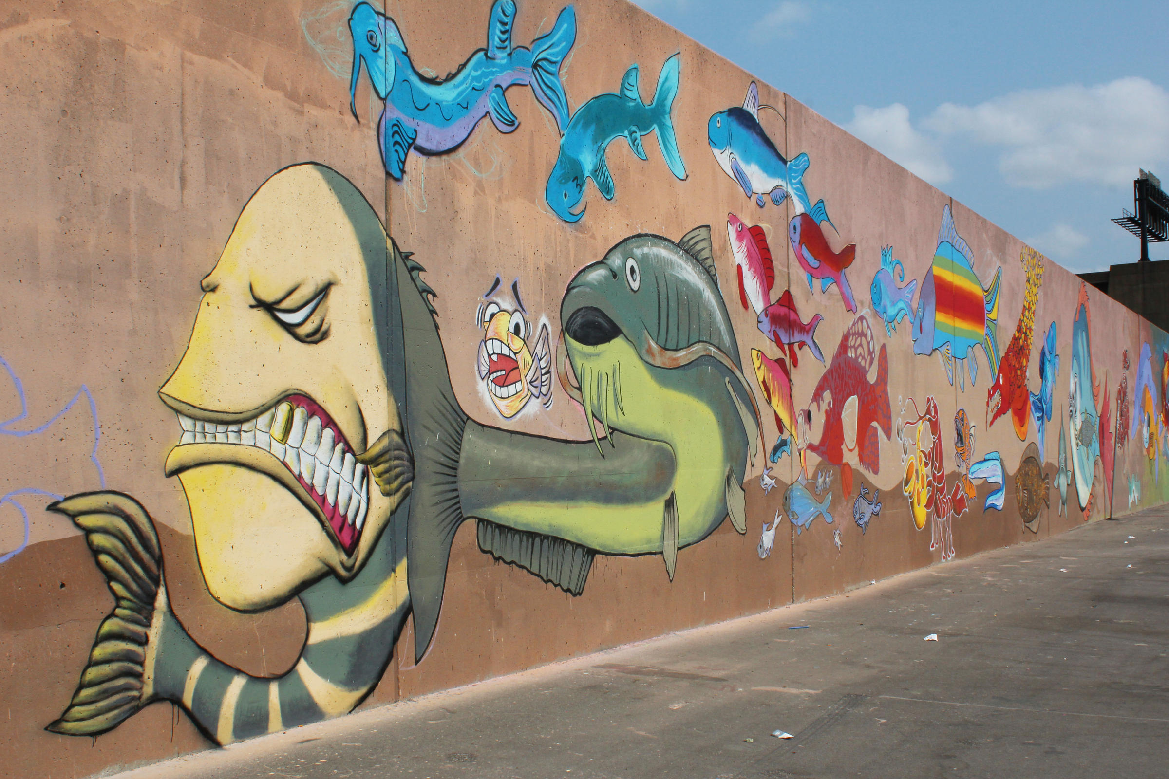 Graffiti wall pictures - The Mural Was Composed Largely Using Techniques And Styles Established In Graffiti Tradition