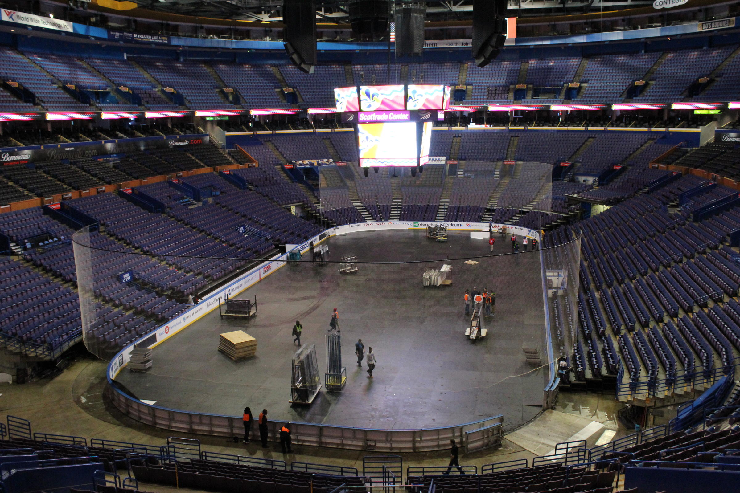 A St. Louis alderwoman is among three residents suing to stop the city from  paying for upgrades to the Scottrade Center, shown here on Jan 2., 2017.