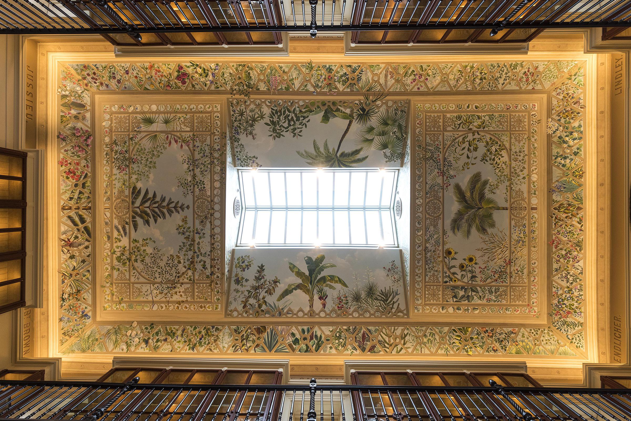 During The Renovation Work, The Garden Hired Artists Based In Brooklyn To  Recreate The Mural That Lines The Ceiling Of The Museum.