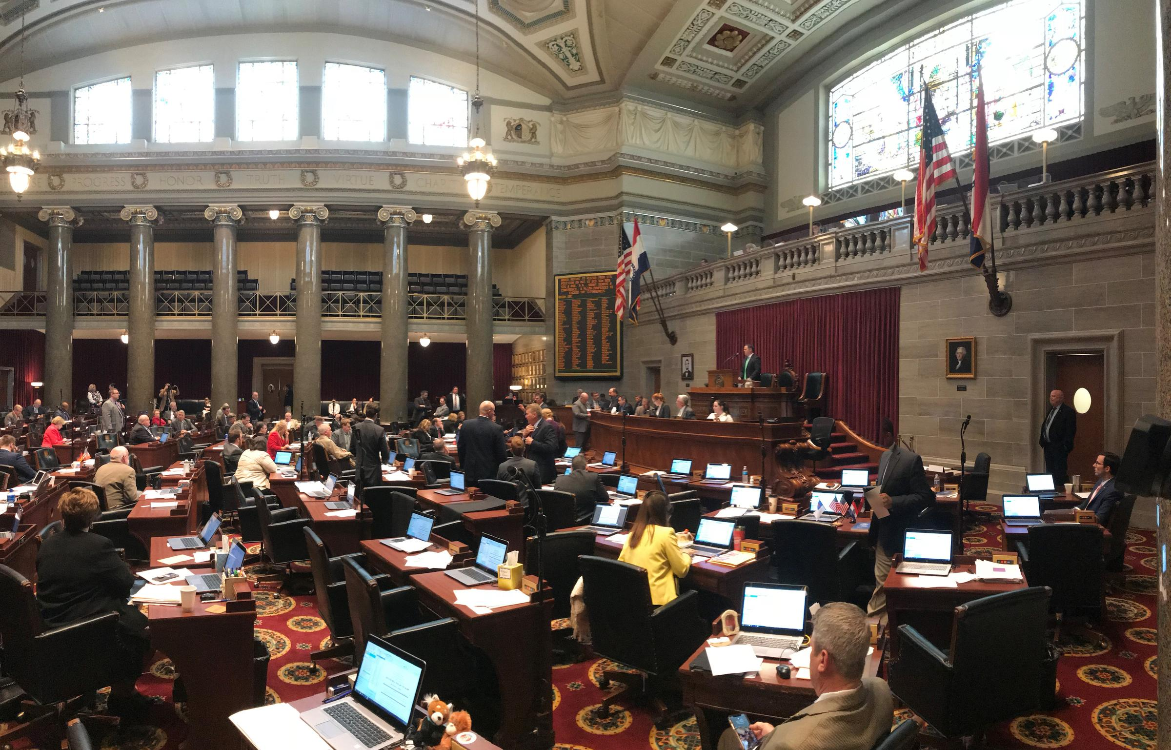 Lawmakers In The Missouri House Work To Pass Legislation Before The Close  Of Session Friday Evening.