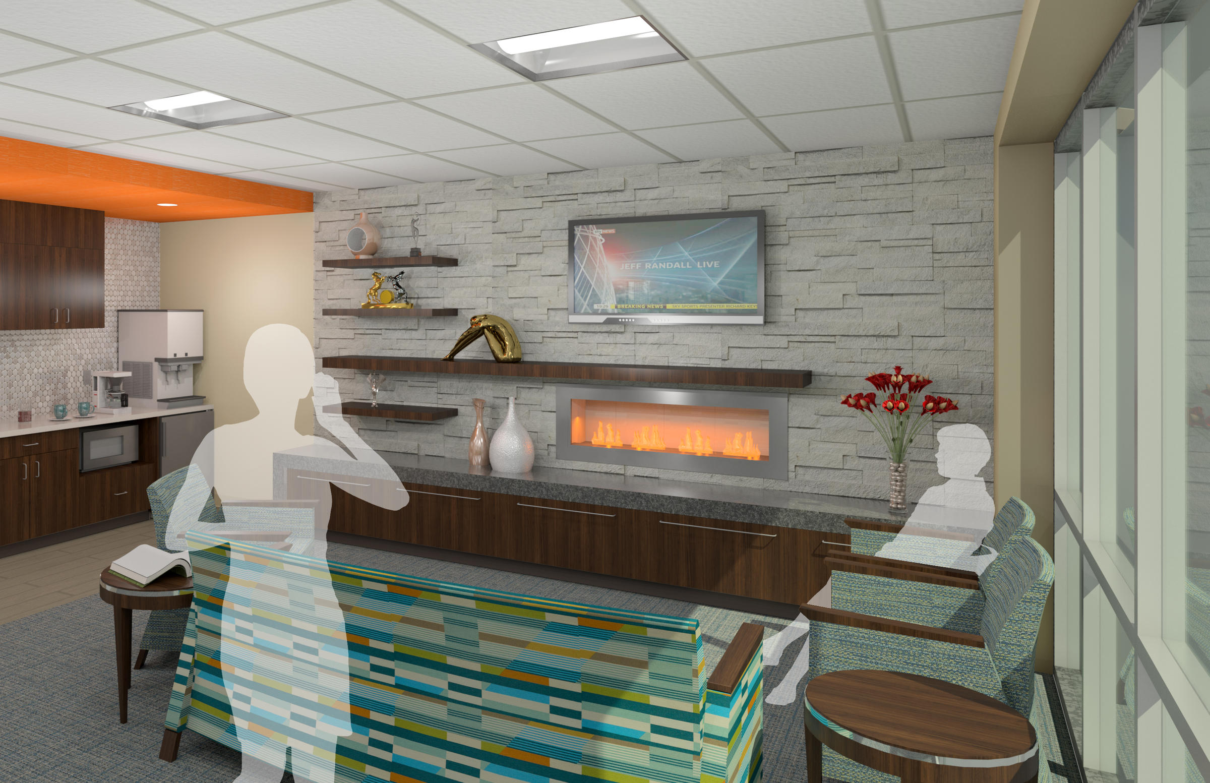 Patient Centered Design At The New Siteman Cancer Center In Florissant Will  Include A Family Lounge With A Fireplace.
