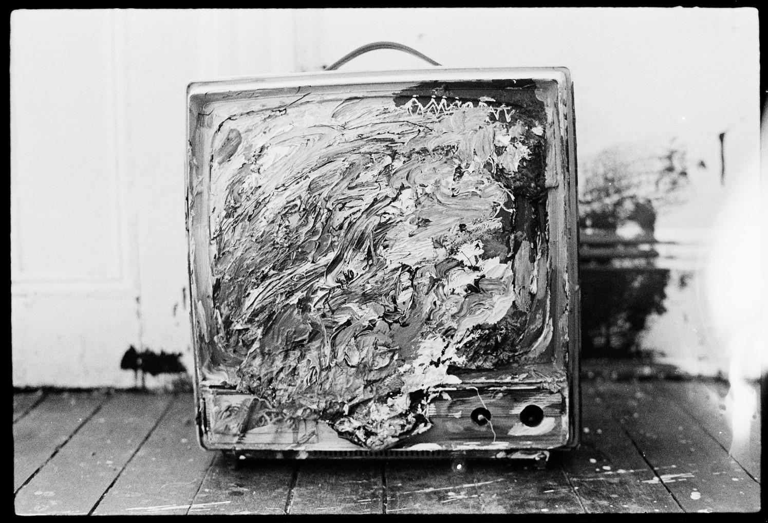 Jean Michel Basquiat Painted Many Items Around The Shared Apartment Including This Television Set