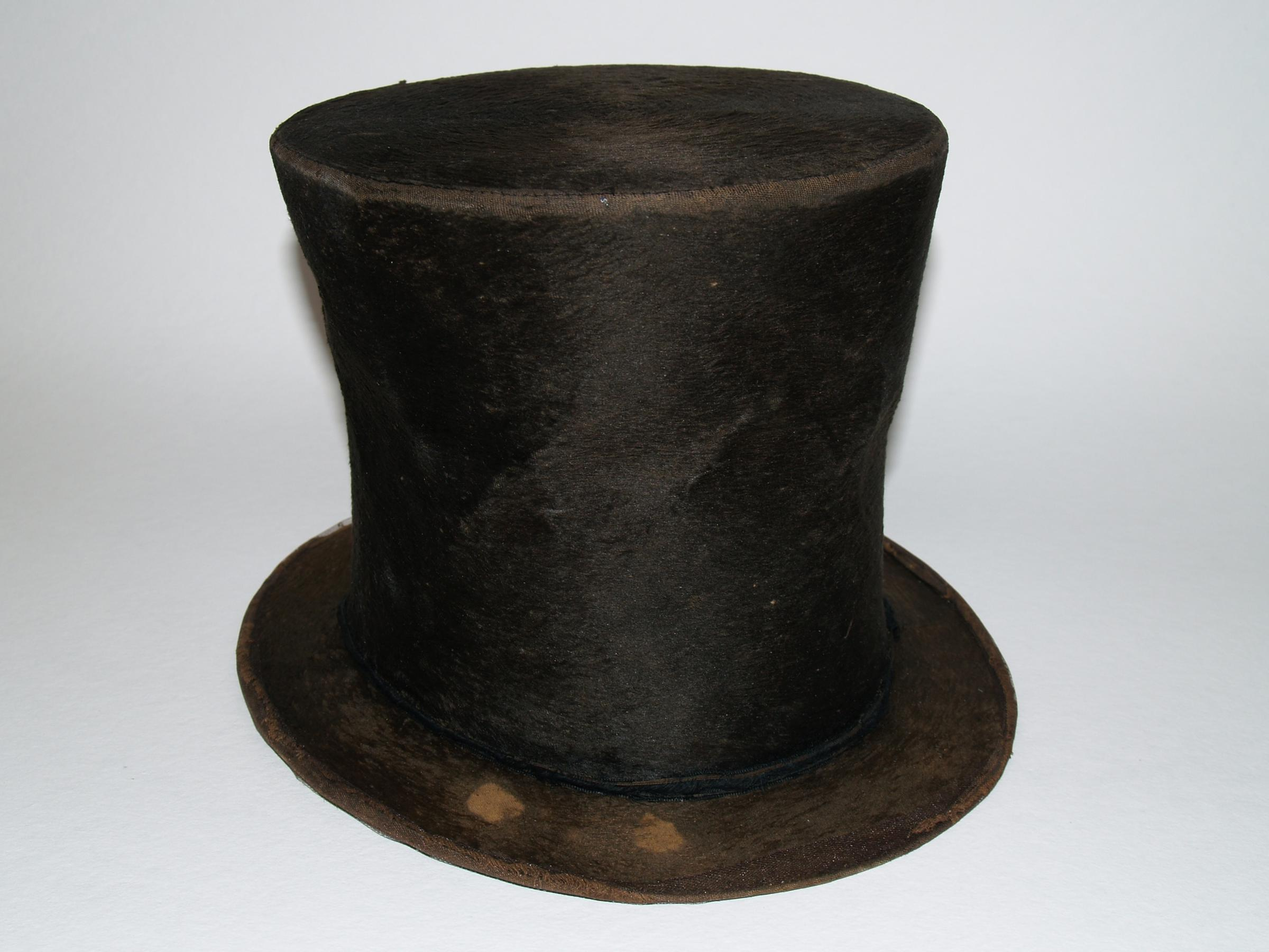 fef41bba6b7 The beaver fur stovepipe hat in the Taper Collection is believed to be one  of three in existence that were worn by Lincoln. Some historians say  there s no ...