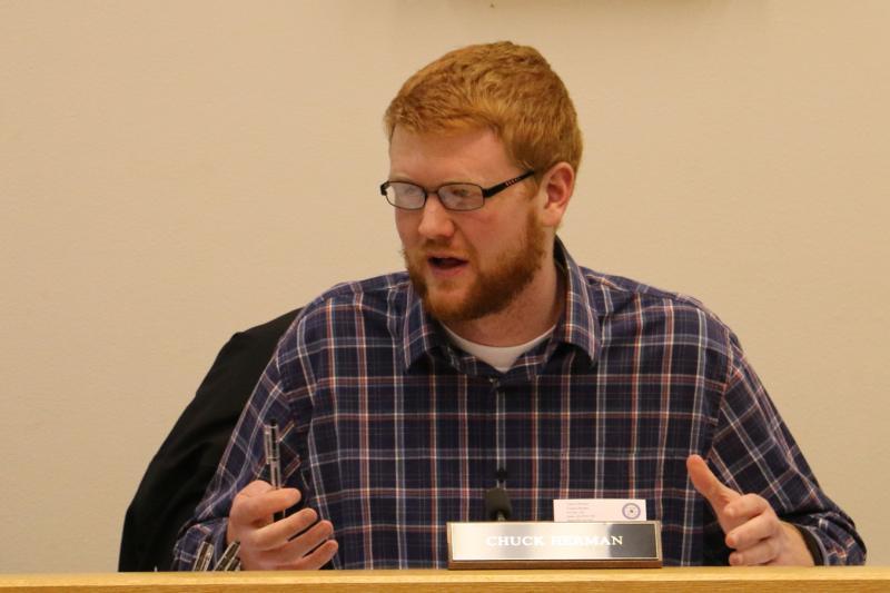 Chuck Herman addressing Bethel City Council
