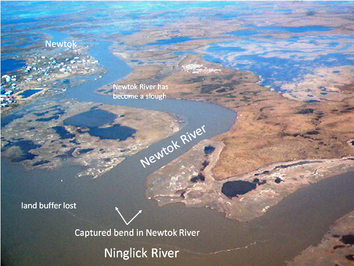 Newtok's waterways.