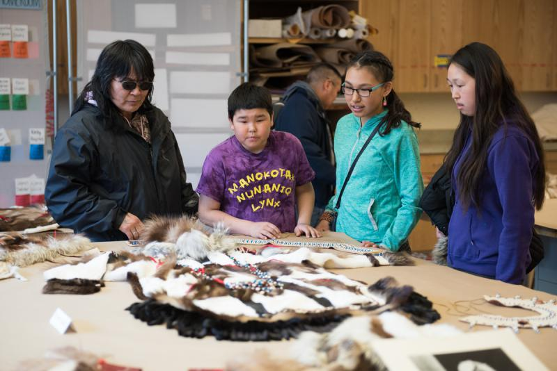 Chuna McIntyre shares his Yup'ik regalia during his workshop After a long hiatus the Fur Fashion Show returns to the Cama'i stage on Saturday, April 1 at the 2017 Cama'i Dance Festival.