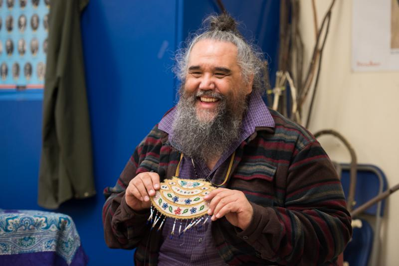 George Holly, an Athabascan drummer, shares stories and songs during his workshop After a long hiatus the Fur Fashion Show returns to the Cama'i stage on Saturday, April 1 at the 2017 Cama'i Dance Festival.