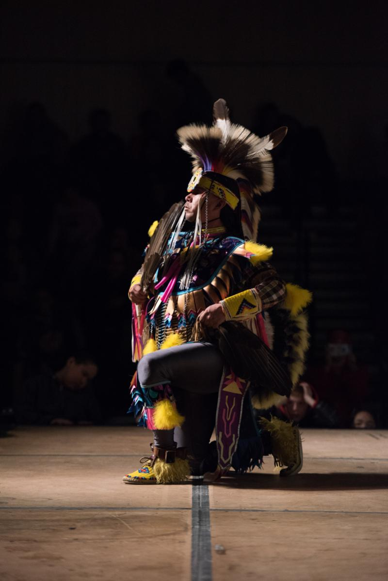 The Cree Indian group, Running Thunder, traveled from Canada to perform at the 2017 Cama'i Festival. Despite bad weather and canceled flights, the group made it and delighted the Bethel audience.