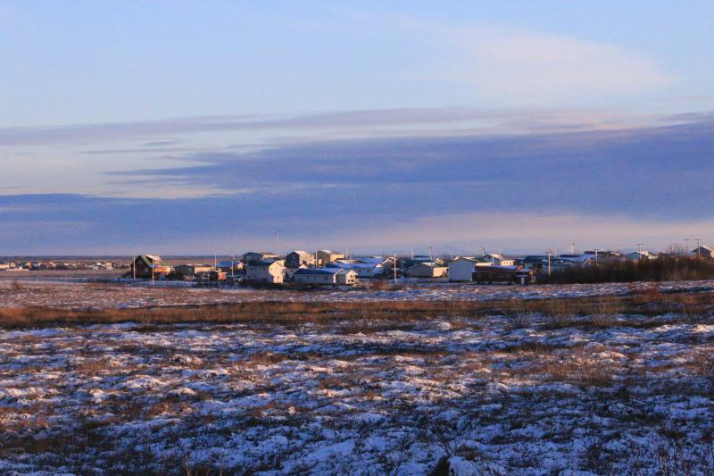 "Tundra surrounding Larson Subdivision, and proposed site for Senator Hoffman's ""Blue Sky Estates"" subdivision."