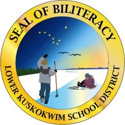 The seal will not only elevate the Yup'ik language among the nineteen other languages with the bi-literacy seal, but also elevate Yugtun speakers across the nation. Pictured here is an image of the seal, how it will appear on high school diplomas.