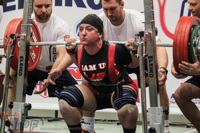 Last month, Natalie Hanson broke another American powerlifting record at the U.S. National Championships in Orlando, Florida with a squat lift of 270 kilograms (595 pounds). Hanson is pictured here at the 2015 World Championships in Luxembourg.