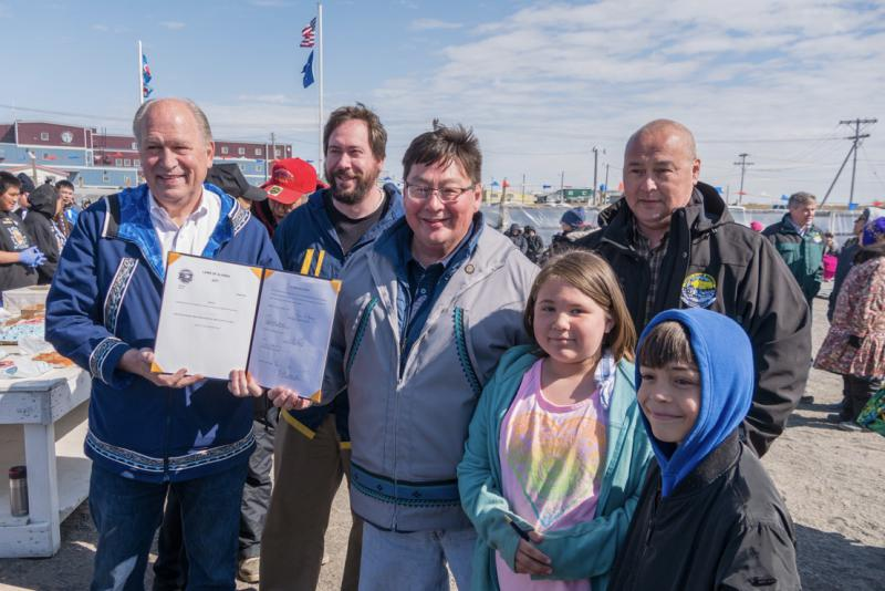 Governor Walker in Utqiaġvik on June 24, 2017 after signing Indigenous Peoples Day into state law.