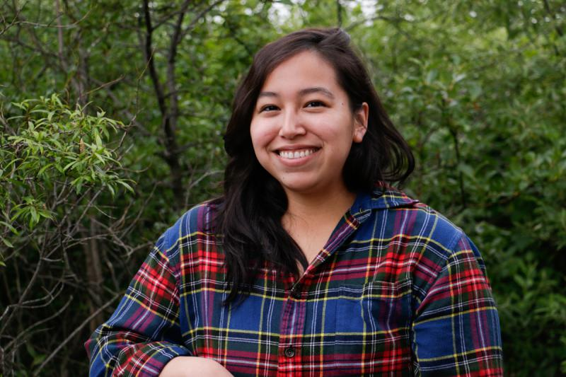 Jasmine Gil, originally from Bethel, is studying the effects of wildfires on permafrost with the Polaris Project, 50 miles north of the YK hub.