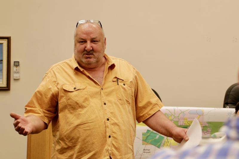 Last Thursday, July 13, the Bethel Planning Commission held its third hearing on Cezary Maczynski (above)'s plans for Kusko Liquor on the waterfront, granting him a Conditional Use Permit.