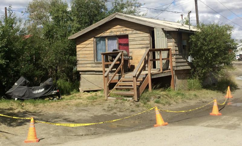 Yellow caution tape surrounds the alleged crime scene on July 30, 2017 at 840 Jacobs Way where Jason Joseph Lupie is accused of murdering his wife Marie Beebe Lupie.