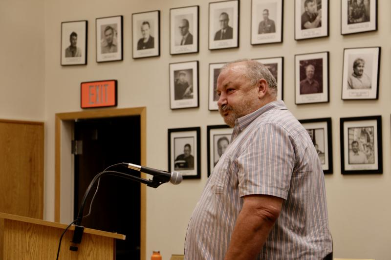 At the meeting last night, City Council rescinded its protest of Cezary Maczynski's Kusko Liquor application this past February. Maczynski is pictured above at the August 8, 2017 meeting.