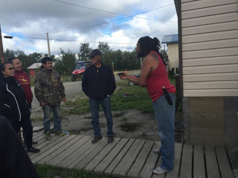 Akiak residents confront Jacques Cooper, who multiple community members claim sold alcohol and marijuana illegally.