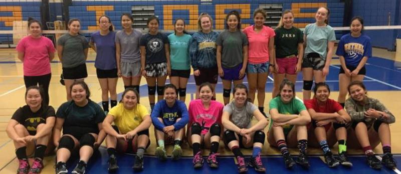 Bethel Regional High School's volleyball team is competing on their home turf in the Western Conference Regional Tournament on October 27 and 28, 2017.