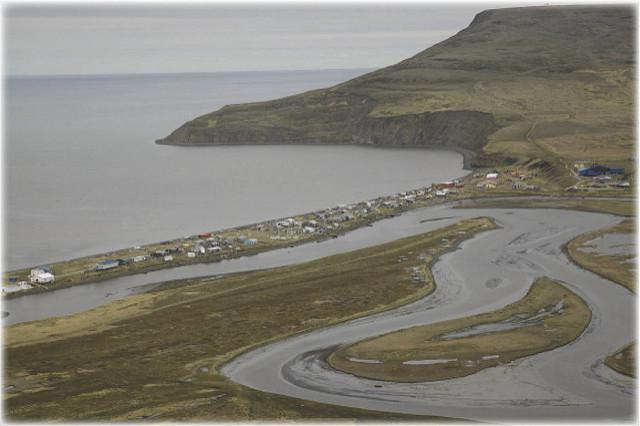 The Department of Transportation graded Tununak's runway several days ago.