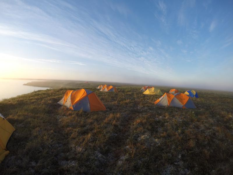 A scientist who grew up in Bethel, Gil spent two weeks this summer camping on the tundra and studying its disappearing lakes.