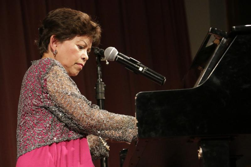 Esther Hana performs at Bethel's Cultural Center.