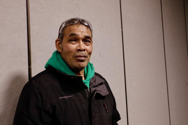 "Keggulluk Earl Polk, pictured here at the film screening in Bethel last month, is featured in ""We Breathe Again,"" a documentary that follows four Alaska Natives on their path through the healing process."