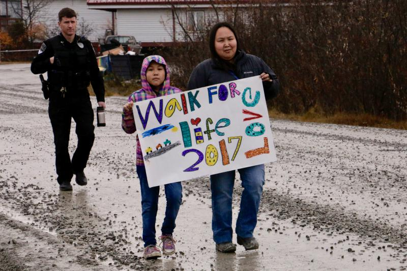 he Walk For Life was an idea with roots in Gladys Jung Elementary School's kindness campaign last year, when children were encouraged to be kind to each other.