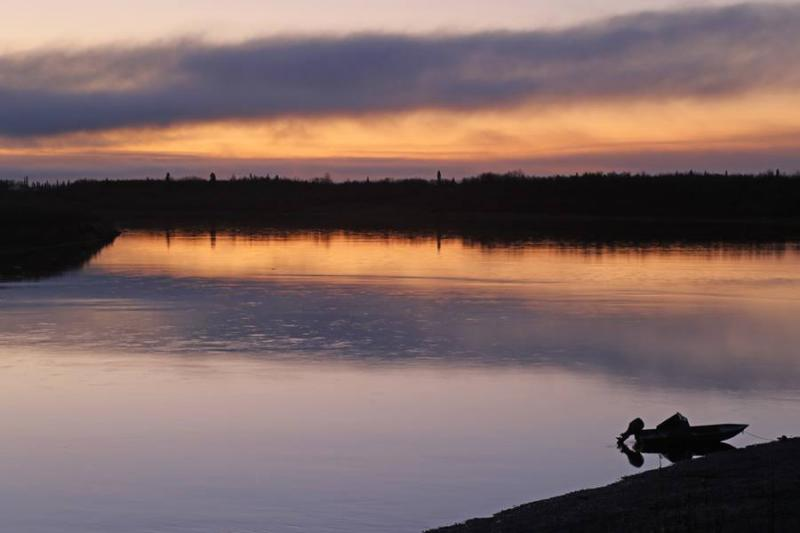 The Kuskokwim river by Aniak in late October 2017.