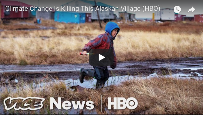 HBO's VICE News Tonight featured the Y-K Delta's own Village of Newtok in this look at climate change's impact on rural Alaska villages.