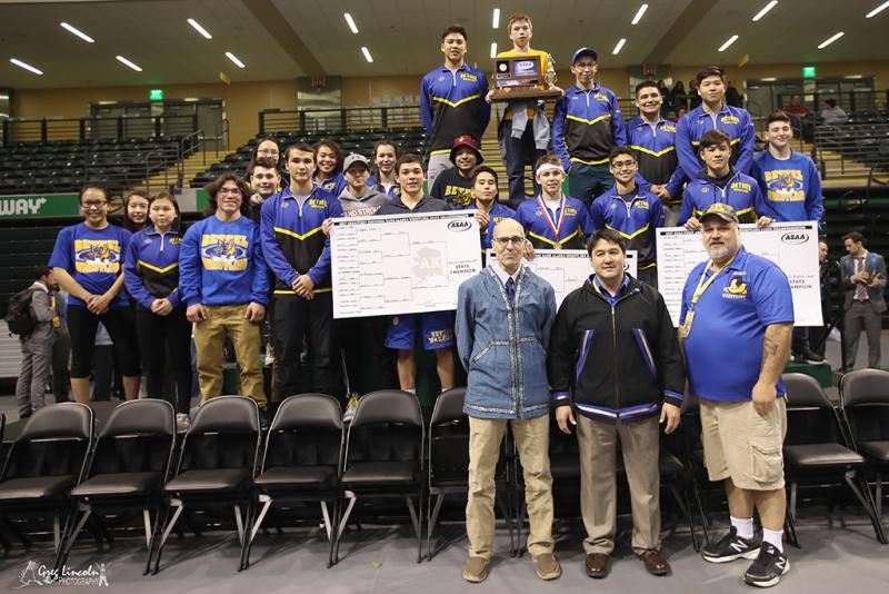 Bethel Regional High School claimed its eighth state wrestling title on December 16, 2017.