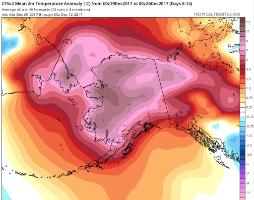 The Yukon-Kuskokwim Delta might go through another warm spell early next week.