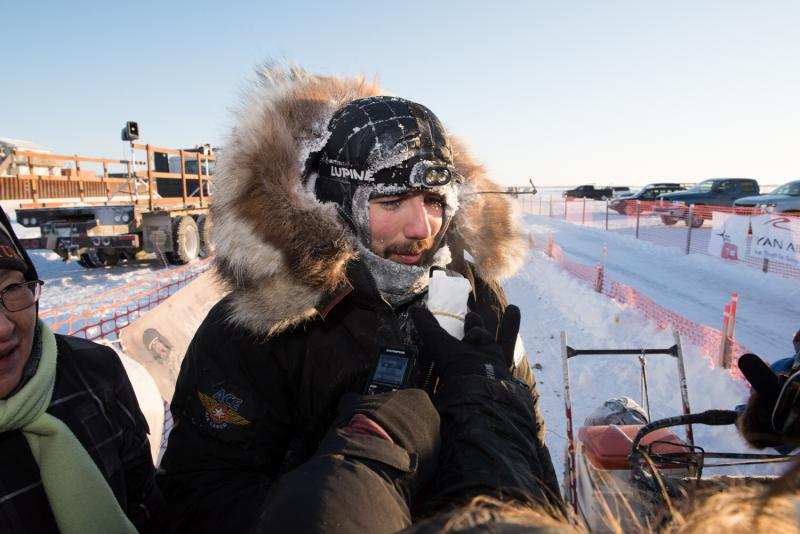 Aniak musher Richie Diehl earned his highest-ever place in the 2017 K300, coming into the Bethel finish in third place.
