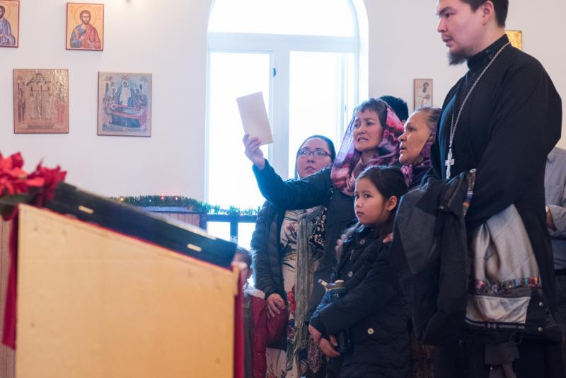 Slaviq festivities begin at St. Sophia Church in Bethel on Sunday, January 7, 2018 for the week-long Russian Orthodox Christmas celebration.
