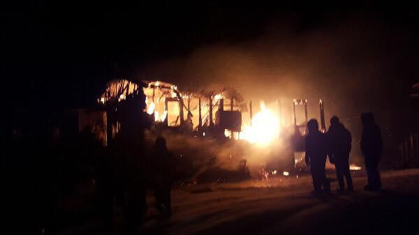 The home of Edwina Andrew burned to the ground in Nunapitchuk last night. No one in the family was injured.
