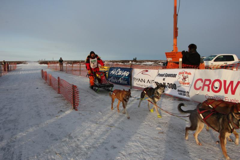 Akiak musher Cameron Jackson eanred second place in the 2018 Bogus Creek 150.